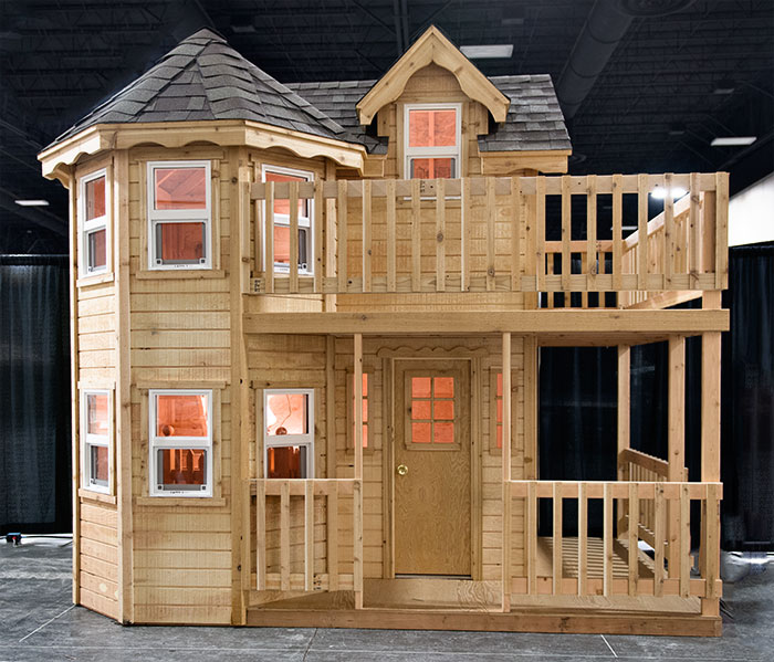 Victorian playhouse instructions pdf woodworking for Plans for childrens playhouse