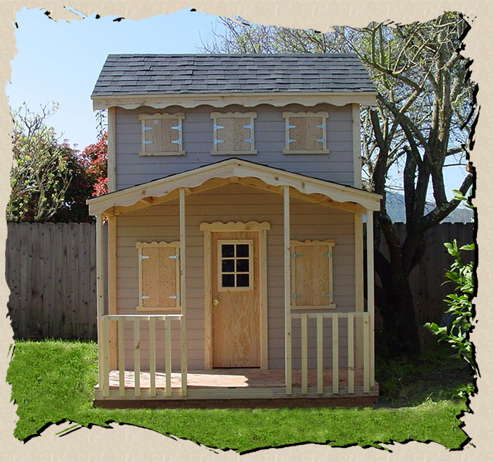 Children s outdoor wooden playhouse plans furnitureplans for Wooden playhouse designs